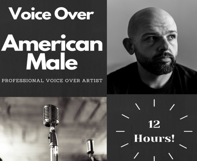 record a professional american male voice in english for you