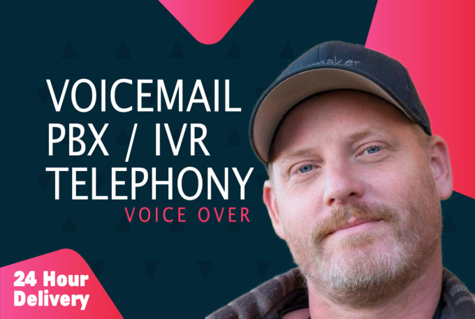 record your american male ivr, hold and voicemail messaging