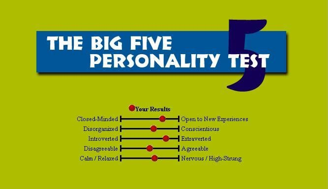 categories of big five personality test