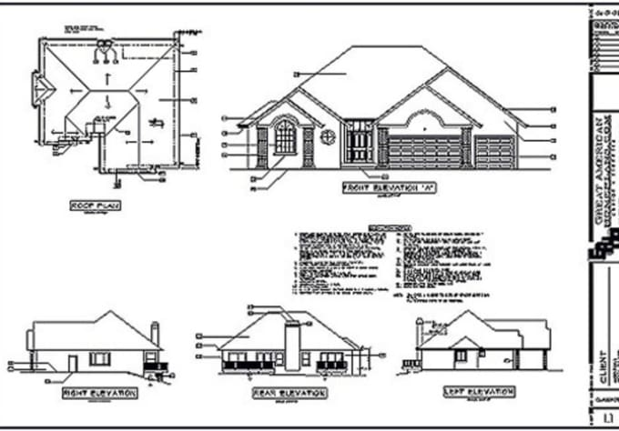 Prepare a simple building foundation plan by using autocad for Plan toiture maison