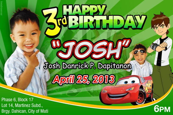 do birthday tarpaulin layout design | Fiverr