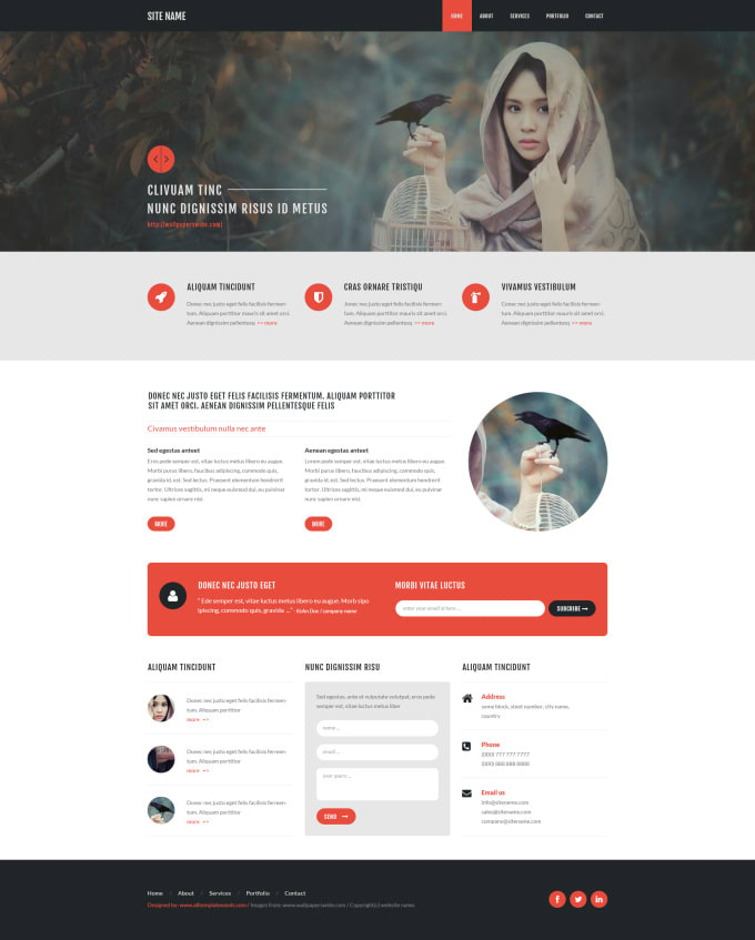 Free PSD Website Templates Page 1 of 12 Total of 104