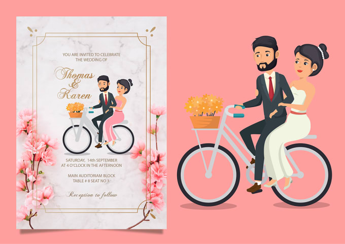 Invitations Design Create Wedding Other Events Invitations Fiverr