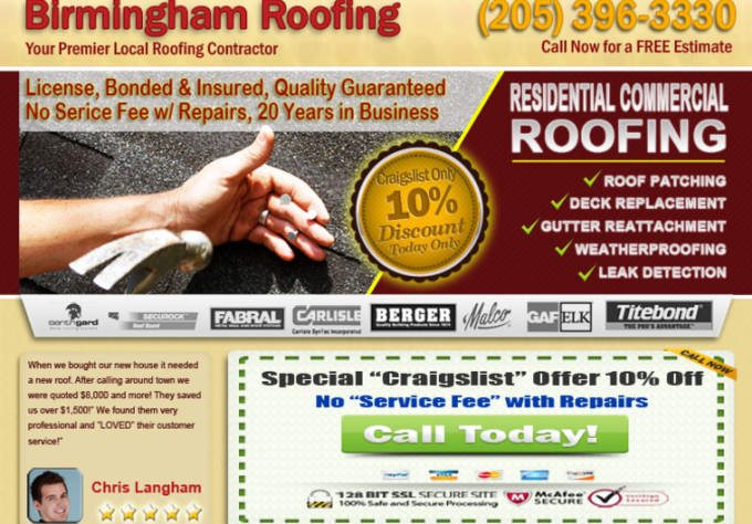 Provide Birmingham Roofing Services