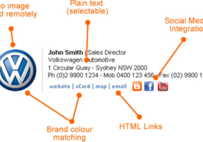 Transform your static image email signature to html keeping the ...