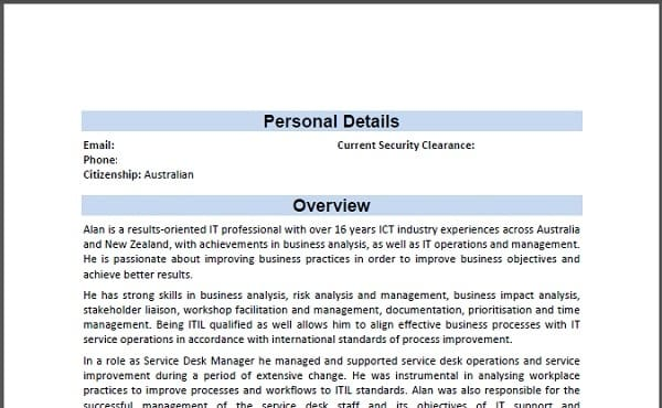 update your resume with a professional format