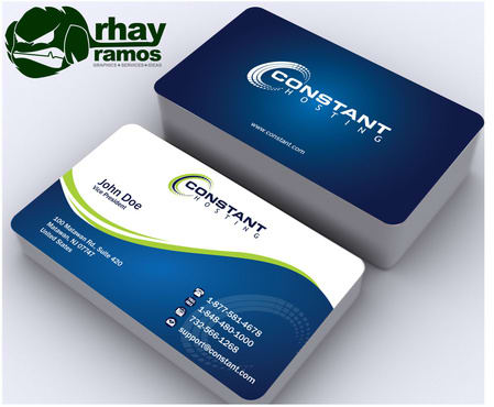 Vertical Layout Simple Design Business Cards