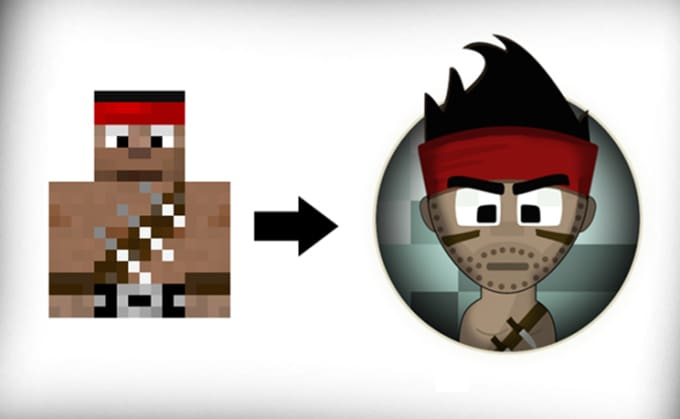 Design a custom cartoon of your minecraft skin by jasonthenicest ccuart Images