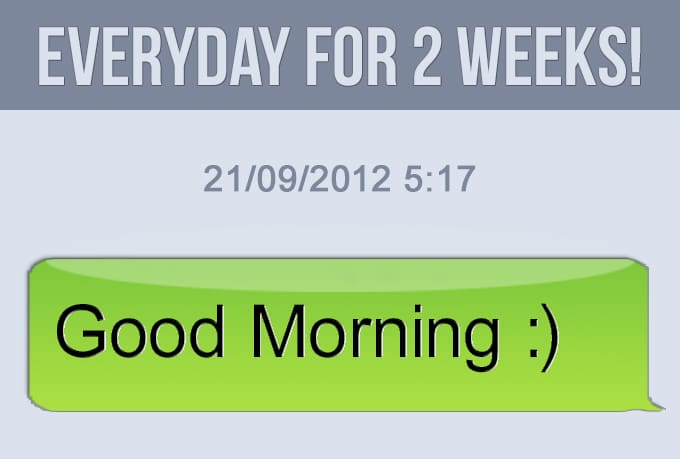 Good Morning Spanish Text : Send you goodmorning text everyday for two weeks by icidro