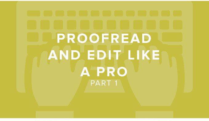 how to proofread a research paper