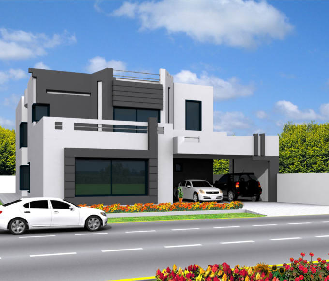 2D Interior Design Exterior Design A House Building 2D Drawings Of Planning 3D Exterior .