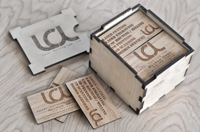 Laser Engrave A Creative Business Card By Mathewowen