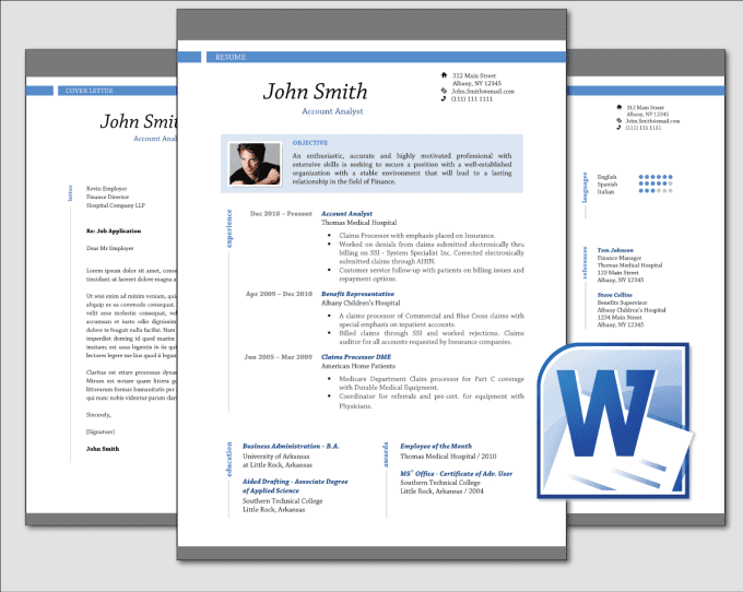 design clean professional resume cv template word by jav felling
