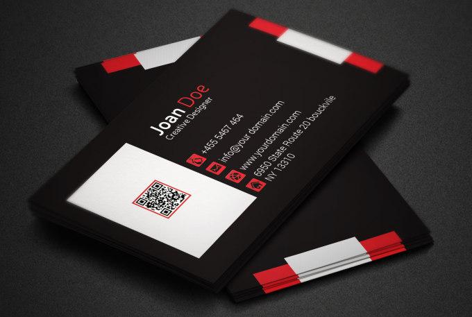 Design unique business card fiverr for Fiverr business cards