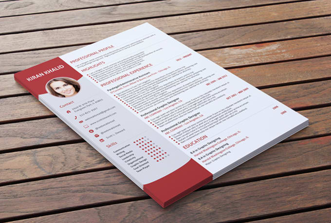 design resume cv curriculum vitae or cover letter for you