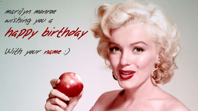 Sing You A Happy Birthday In Marilyn Monroe Style By Noname24