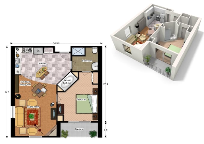 Draw 2d and 3d floor plan with floorplanner by ke architect for Www floorplanner