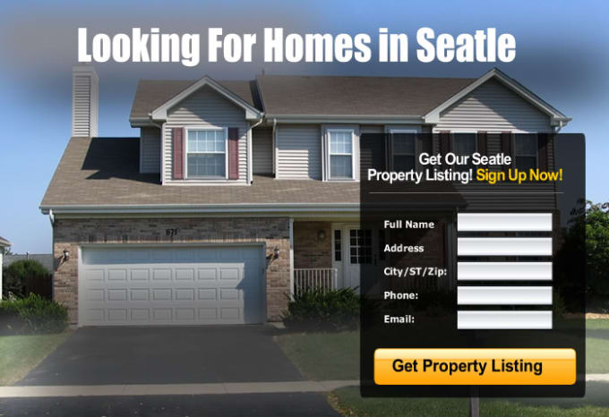 Give you 6 real estate squeeze page templates by I_make_landers