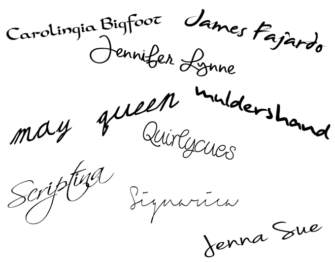 a nice animated handwritten signature GIF