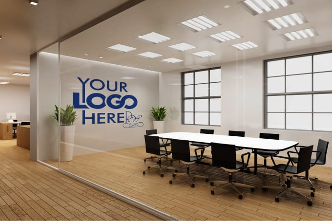 Do A Logo Office Interior Mockup M3