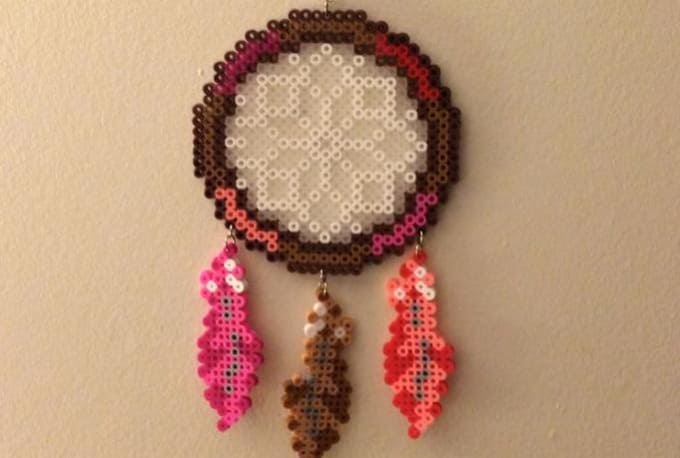 Create a custom perler bead dream catcher by xfayebrandtx for Dreamcatcher beads meaning