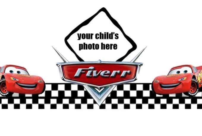 Write your childs name in the disney cars logo by Gibandtam