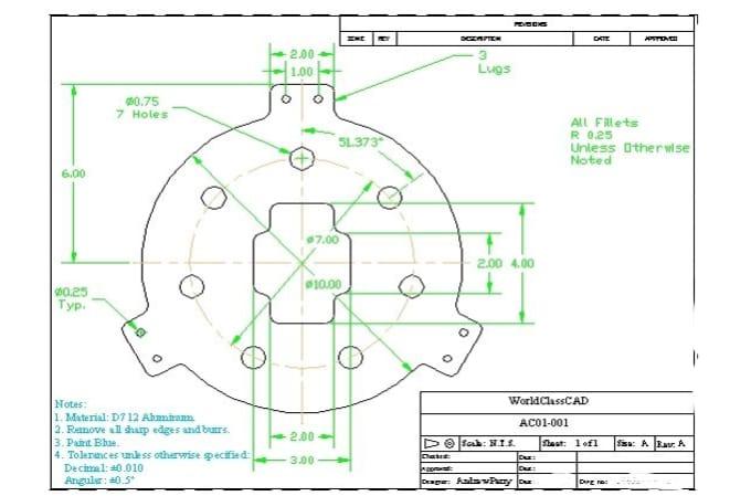 Design Creative 2d Mechanical Drawing By Rajeerox83