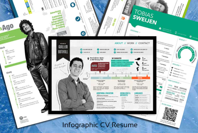 design a killer cv resume in infographic style