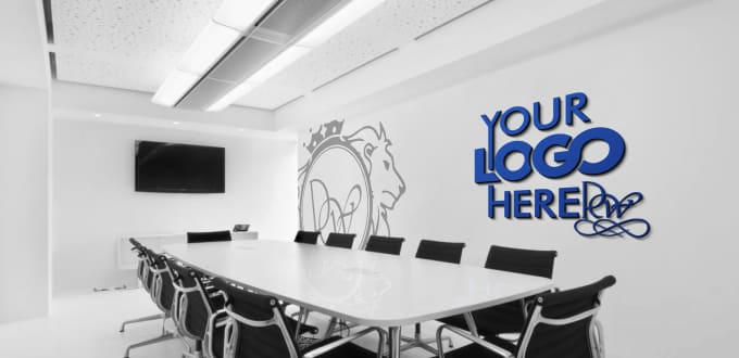 Do A Logo Office Interior Mockup