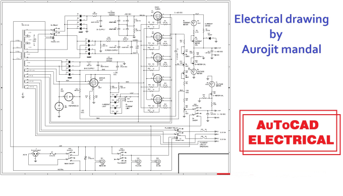 House Electrical Wiring Diagram Autocad : Electrical drawing for autocad the wiring diagram