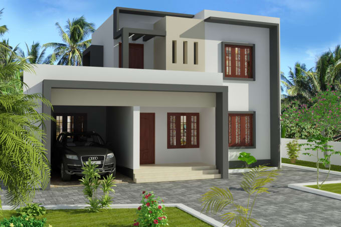 3d Home Front Elevation Design Software : Create d front elevation by isurusampath