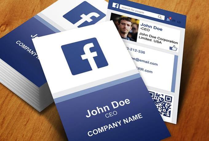 design FACEBOOK business card