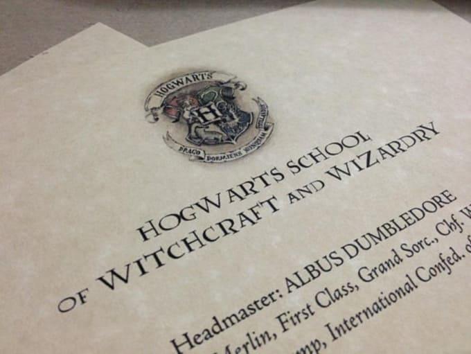 Free hogwarts letter template download font