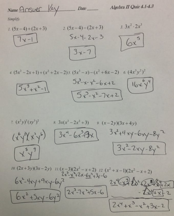 pics of math homework