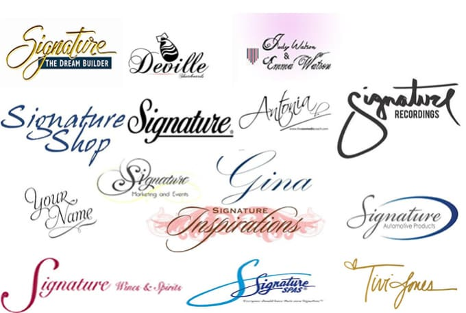 Design simple and cool signature or text logo by Eclinomillion