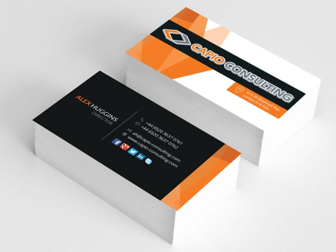Do creative double sided business card eye catchy by Justcreative13