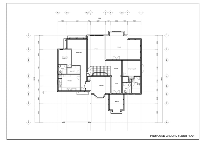 Autocad 2d house plan drawing pdf for 2d house plans