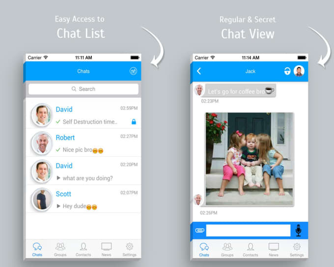 Create chat app like whatsapp concept by theyns create chat app like whatsapp concept ccuart Gallery