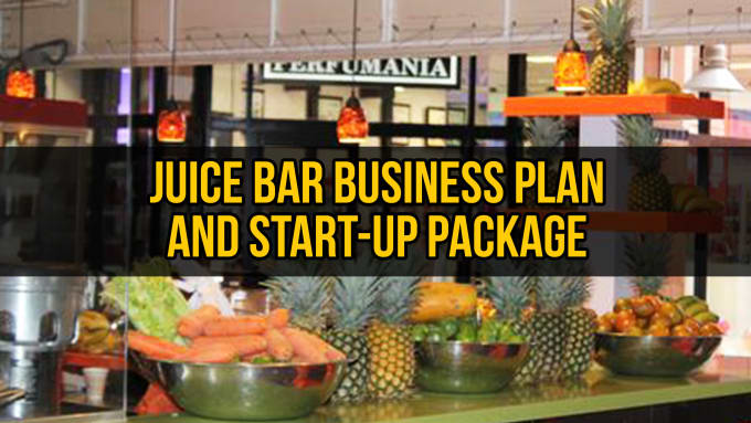 Juice Bar Business Plan Template Sample  Fiverr