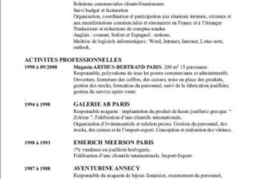 review your french resume (cv)