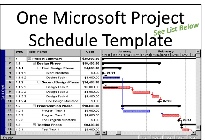 you one microsoft project schedule template