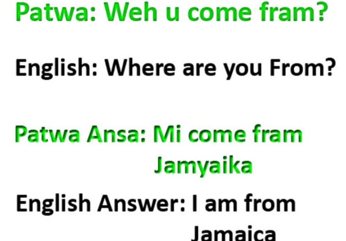 Translate Written English To Jamaican Patwa/patois