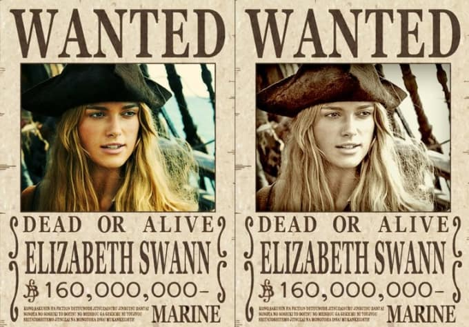 Make 2 super cool one piece wanted posters from your photo by – Sample Wanted Poster