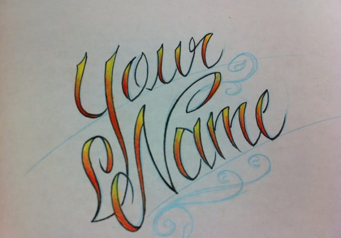 Different ways to write your name on paper
