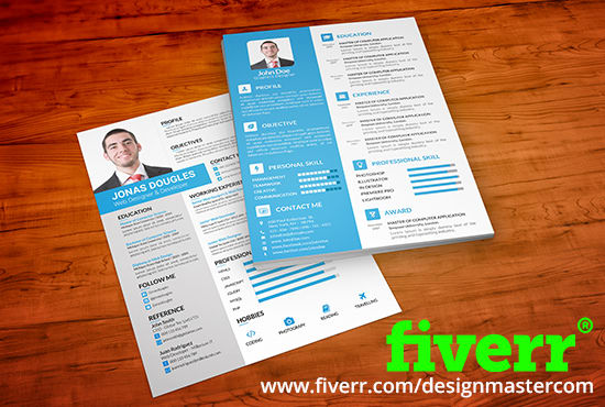 do clean attractive resume design cv design