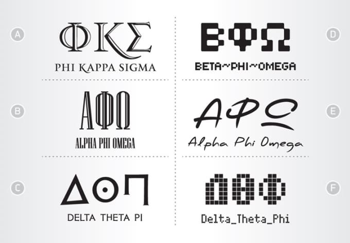 i will design greek letters for your sorority or fraternity apparel paddles pins etc