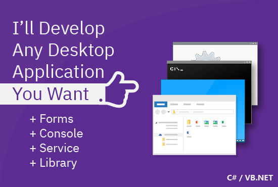 I will develop any desktop application you want