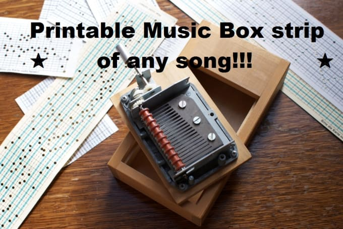 Make a printable strip for your music box of any song by ...