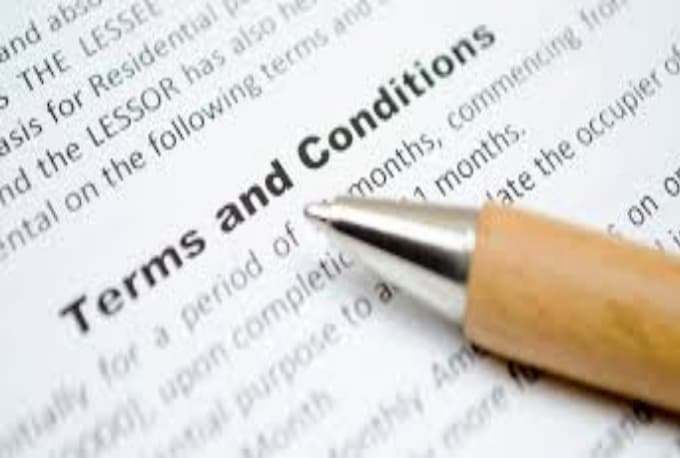 Writing website terms and conditions