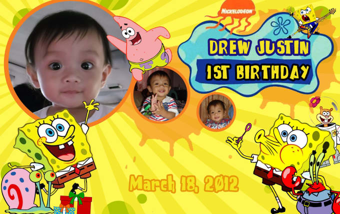 Make a birthday tarpaulin design with themes by Xtreme_me4